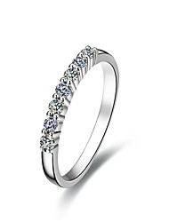 Alliances Femme Diamant Argent / Argent pur / Platiné Argent / Argent pur / Platiné Amour 5 / 6 / 7 / 8 / 8½ / 9 / 9½ Clair