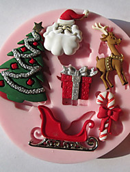cheap -Mold 3D Cartoon For Pie For Cookie For Cake Silicone Eco-friendly Christmas High Quality