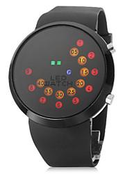 abordables -unisexe rouler affichage montre-bracelet de bande de silicone conduit coloré