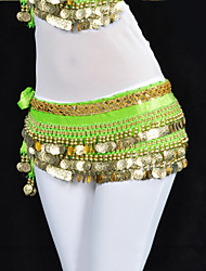 Belly Dance Belt Women's Training Polyester Beading Coins