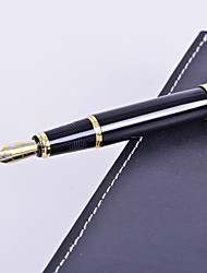 cheap -Personalized Gift Premium Business Style Black Metal Engraved Ink Pen