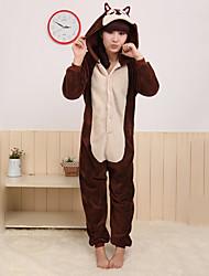 Kigurumi Pyjamas Jordegern Mus Kostume Koralfleece Kigurumi Trikot / Heldragtskostumer Cosplay Festival / Højtider Nattøj Med Dyr