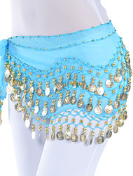 cheap -Belly Dance Belt Women's Training Chiffon Beading Coin Hip Scarf