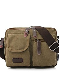Men Bags All Seasons Canvas Shoulder Bag for Casual Black Coffee Brown Green Khaki