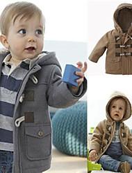 Dječakova Long Sleeve vjetrobran s Hat Debeli Cijeli krzna zimski kaput