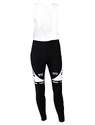 Kooplus Cykling tights med seler Herre Cykel Tights Underdele Hold Varm Fleecefoer Fugtpermeabilitet Påførelig Åndbart Polyester Fleece
