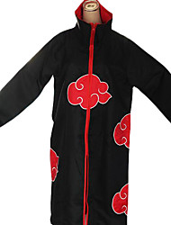 cheap -Inspired by Naruto Akatsuki Anime Cosplay Costumes Cosplay Suits Print Long Sleeves Cloak For Male