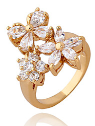 Xinxin Kvinders 18K guld Zircon Ring J1176