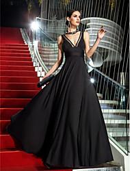 levne -A-Linie Do V Na zem Úplet Maturita Promoce Formální večer Vojenský ples Šaty s Boční řasení podle TS Couture®