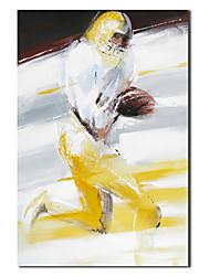 Pintados à mão pintura a óleo Pessoas do jogador de futebol, com quadro esticado