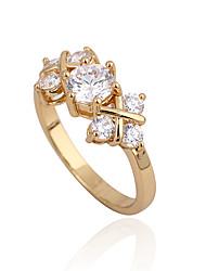 Xinxin Kvinders 18K guld Zircon Ring J28624