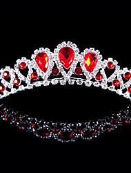 preiswerte -Legierung Diademe mit Strass Hochzeit / Party Kopfschmuck rot eleganten Stil