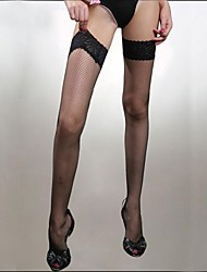 Women's Hosiery Thin Stockings,Nylon Spandex Patchwork White Black Red