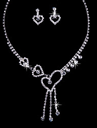 Love Alloy Wedding/Party Jewelry Set With Rhinestone Elegant Style