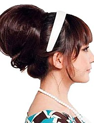 Woman Fashion Chignon Wedding Bride Bun Synthetic Hairpiece Hair Heat Resistant Fiber Cheap Cosplay Party Hair Extension