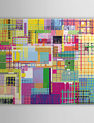 cheap -Stretched Canvas Art Pop Art Multicolored Abstract Ready to Hang