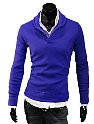 abordables -Hombre Camiseta de running - Gris claro, Azul, Gris oscuro Deportes Punto Pulóveres Manga Larga Ropa de Deporte