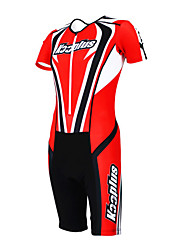 cheap -Kooplus Tri Suit Men's Women's Unisex Short Sleeves Bike Coverall Clothing Suits Quick Dry Moisture Permeability Wearable Breathable