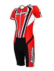 economico -Kooplus Tuta da triathlon Per uomo Per donna Unisex Manica corta Bicicletta tute Set di vestiti Asciugatura rapida Permeabile all'umidità
