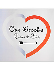 cheap -Personalized White&Red Heart Wedding Indicator