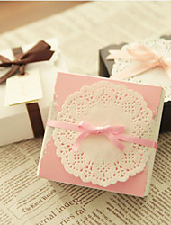 Cubic Card Paper Favor Holder With Favor Boxes-12 Wedding Favors