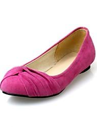 baratos -Feminino Sapatos Sintético Primavera Verão Outono Rasteiro Com Laço Para Casual Festas & Noite Transparente Preto Vermelho Azul