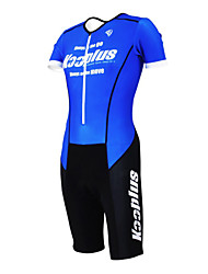 cheap -Kooplus Tri Suit Men's Women's Unisex Short Sleeves Bike Coverall Clothing Suits Quick Dry Moisture Permeability Wearable Breathable 3D