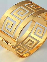 u7® 60 milímetros homens vintage ou 18k ouro real das mulheres banhado pulseiras g carta bangles pulseira cuff