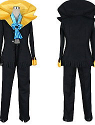 cheap -Inspired by One Piece Brook Anime Cosplay Costumes Cosplay Suits Color Block Coat Pants Tie For Men's