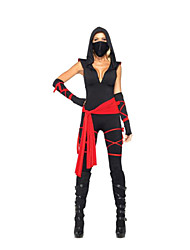 cheap -Ninja Cosplay Costume Party Costume Women's Halloween Carnival Festival / Holiday Halloween Costumes Color Block