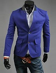 REVERIE Uomo Mænds Dobbelt Button Blå Suit