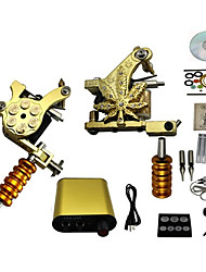 cheap -Tattoo Machine 2 cast iron machine liner & shader High Quality Classic Daily