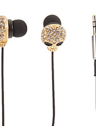 Cranio a forma di oro stereo In-Ear Headphone (occhi piccoli)