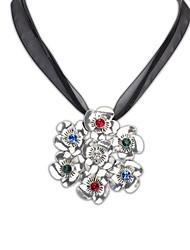 Stile Fahion europea (figura del fiore) Dichiarazione lega placcata Lady Collana (bronzo e argento a colori) (1 pc)