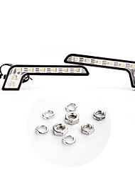 cheap -2 * Super Bright White 8 LED DRL Car Daytime Running Driving Light