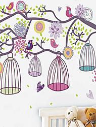 economico -1pcs adesivo muro gabbia mattina colorato