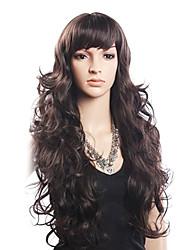 cheap -High Quality 20% Human Hair & 80% Heat-resistant Fiber Hair Capless Long Wavy Wig(Blonde)