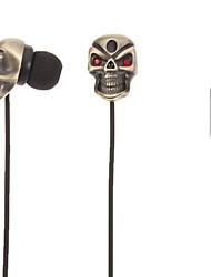 TM01 Skull-Shaped Stereo In-Ear Headphone(Gold)
