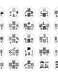 cheap -25PCS 2014 New Style Nail Art Stamp Stamping Image Template Suits