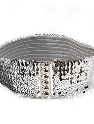 cheap -Women's Waist Belt,Gold Black Silver Casual Solid