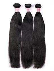 Недорогие -14 16 18 дюймов Великий 5А бразильские Природа Девы человеческих волос Черный цвет Прямые Наращивание волос