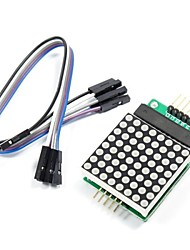 cheap -MAX7219 Red Dot Matrix Module with 5-Dupont Lines for (For Arduino) (Works with Official (For Arduino) Boards)