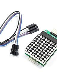 preiswerte -MAX7219 roten Punkt-Matrix-Modul mit 5-Leitungen für dupont (für Arduino) (funktioniert mit offiziellen (für Arduino) Platten)