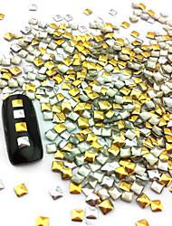 preiswerte -100PCS 2.5mm Punk Mixed Golden & Silver Rivet Nail Art Deko