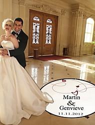 Недорогие -Свадьба Декор персонализированные сердце и линии танцпол пропуск (больше цветов)