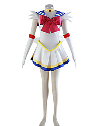 inspired by sailor moon sailor moon anime cosplay costumes cosplay suits patchwork dress headpiece bow for womens halloween costumes