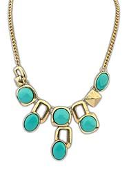 Europæiske Vintage Style Fashion Resin Beaded Alloy Kæde Statement Necklace (flere farver) (1 stk)