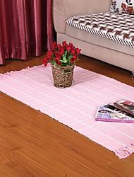 Элейн чистого хлопка розовый вафли проверка ковер 333631