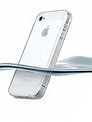 Custodia trasparente ultrasottile in silicone per iPhone 4/4S (colori assortiti)