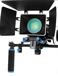 Rig Kit Movie Con Follow Focus + Shoulder Mount Holder + Mattebox Camera Rig Per Dslr Fotocamere